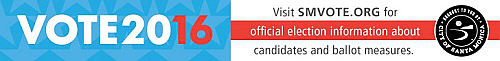 City of Santa Monica Vote 2016 election page banner ad. http://www.smvote.org/