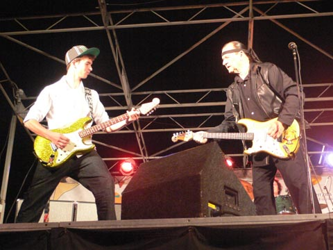 Dick Dale and his son Jimmy Dale perform on Santa Monica Pier