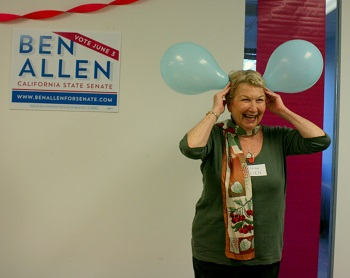 Candidate's Mom Elena Allen Entertains Crowd