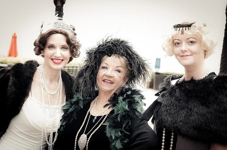 Picture of docents at Marion Davies' birthday bash