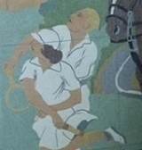 Detail of Recreation mural at City Hall