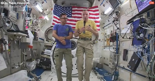 Astronauts in Space Station tlak to Samohi students
