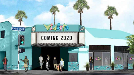 Rendering of new Vidiots store in Eagle Rock