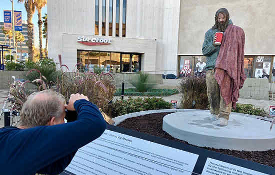 Homeless sculpture by Ed Massey