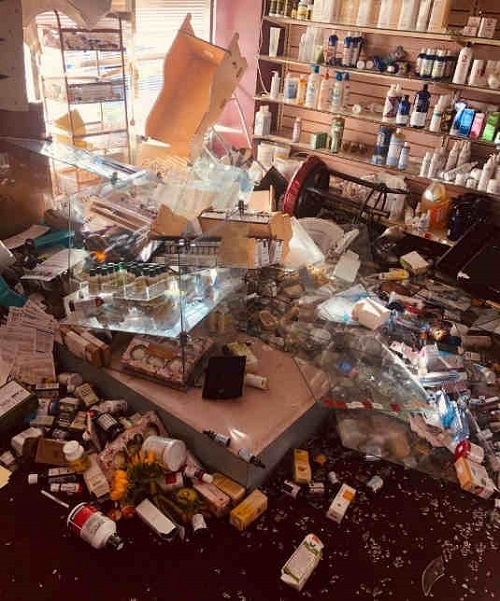 Pharmacy Owner Assaulted During Looting Gets Help Picking Up the ...